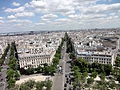 View from Arc de Triomphe 1 2012-07-02.jpg