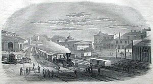 Atlanta in the American Civil War - View in Atlanta, Georgia, 1864