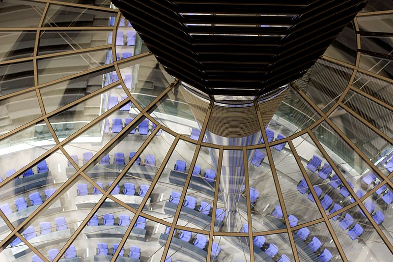 File:View of the Plenary Chamber of the Bundestag from the Dome of the Reichstag. (4209149129).jpg
