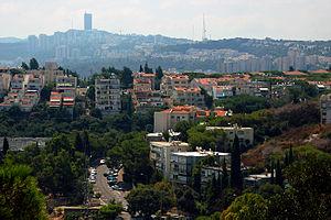 View on Haifa in the direction of the Haifa University.jpg