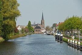 """De Vliet"" canal in Leidschendam centre"