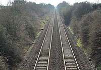 View south from Station Road railway bridge, Storeton.jpg