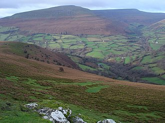 Black Mountains, Wales - Pen Cerrig-calch and Pen Allt-mawr in the south-west of the Black Mountains range