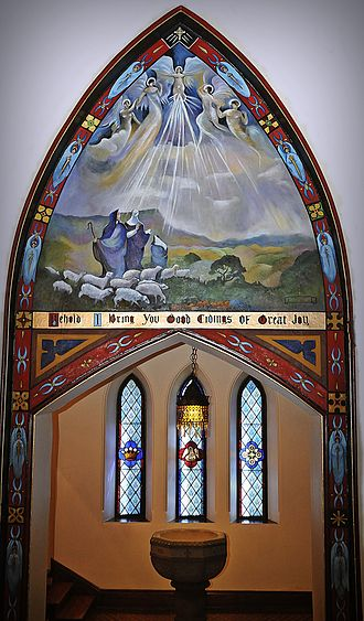 """Trinity Episcopal Church (Williamsport, Pennsylvania) - """"The Angels Appearing to the Shepherds"""", J. Wesley Little"""