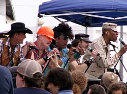 Village People in Asbury Park, New Jersey, am 3. Juni 2006