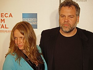 Vincent D'Onofrio - Vincent D'Onofrio with wife Carin van der Donk at the Tribeca Film Festival in New York City for the premiere of Speed Racer