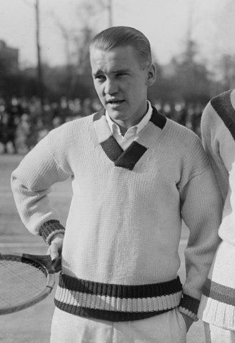 Vincent Richards - Richards at the 1922 Davis Cup