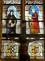 Vineuil-Saint-Firmin (60), église Saint-Firmin, verrière n° 0 - Éducation de la Vierge et Marie-Madeleine.JPG