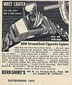 Vintage Advertising For A Wrist Lighter Cigarette Lighter, From Popular Mechanics Magazine, November 1952 (14527506793).jpg