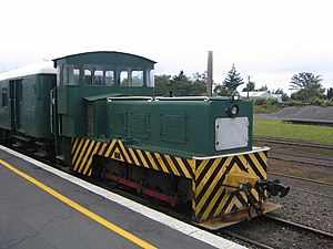 Goldfields Railway - Goldfields Price 0-4-0 locomotive at Waihi Railway Station.