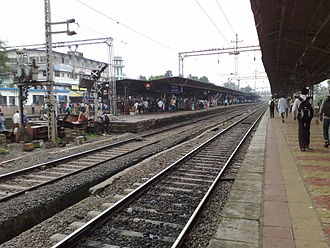 Virar railway station - Image: Virar railway station Overview