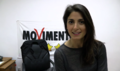 Virginia Raggi with 5SM logo.png