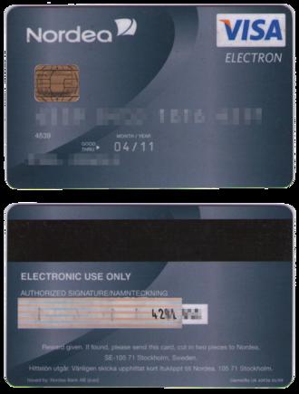 Visa Electron - Swedish Visa Electron card