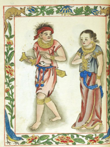Visayan royal couple from the 16th century Boxer Codex