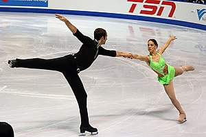 Tiffany Vise & Derek Trent at the 2006 Skate Canada International.