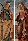 Vittore Carpaccio - St Catherine of Alexandria and St Veneranda - WGA04324.jpg