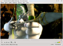 Vlc mediaplayer 0.9.8a runing on KDE 4.2.1 with fedora 10.png