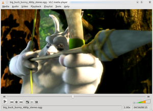 Scene in Big Buck Bunny playing in VLC media p...