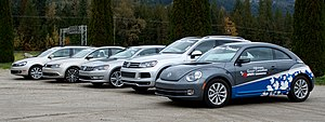 Volkswagen emissions scandal - Vehicle line-up at 2012 Volkswagen Great Canadian Clean Diesel Tour
