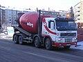 Volvo cement mixer truck in Jyväskylä.JPG