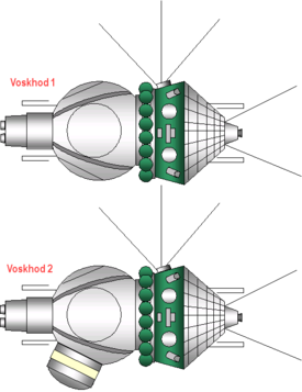 Voskhod 1 and 2 spacecraft