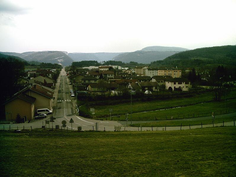 Village de Nurieux-Volognat (pris depuis la montée du Berthiand)