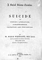 W. W. Westcott, Suicide. Its history, liter Wellcome L0029903.jpg