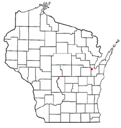 Location of Oneida, Wisconsin