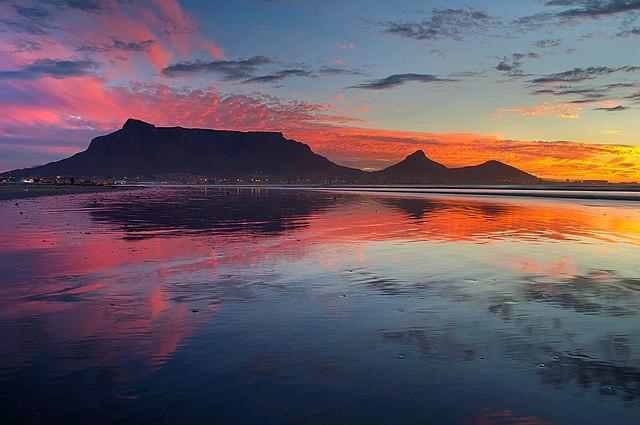 File Wlm 2014 Table Mountain From Lagoon Beach Cape Town