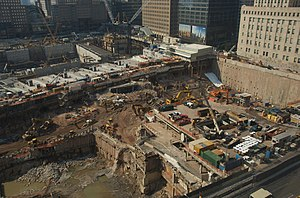 Cortlandt Street (IRT Broadway–Seventh Avenue Line) - Image: WTC Site and Subway Box vc