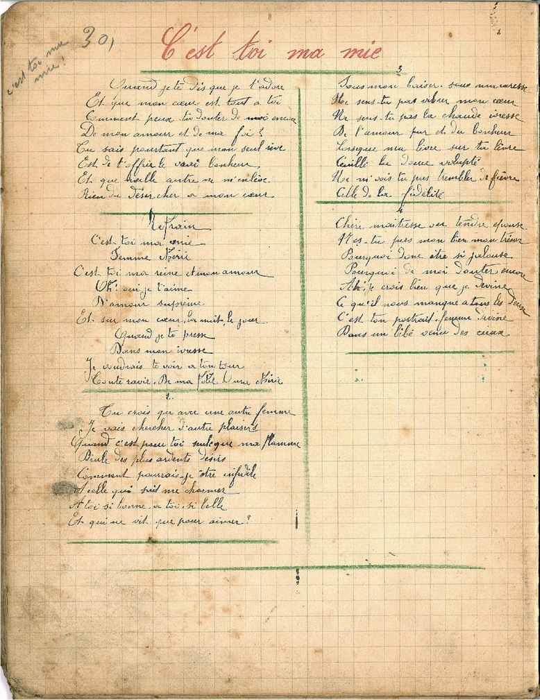 file wwi bm guerre 14 18 cahier de chants d un poilu pages30 37 wikimedia commons. Black Bedroom Furniture Sets. Home Design Ideas