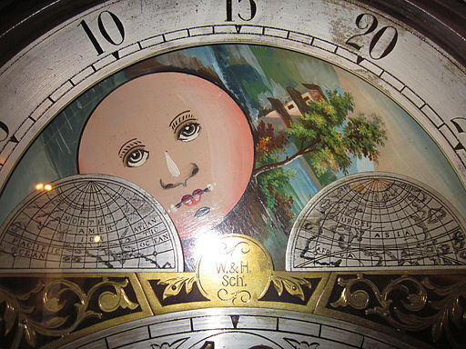 W & H Sch grandfather clock face 2