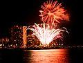 Waikiki Hilton Fireworks (4607529911).jpg