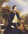 Waldmüller - Porträt einer Frau als Amazone, mit ihren Windhund.jpg