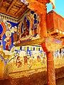 Wall paintings outside Thagthok Gompa.jpg