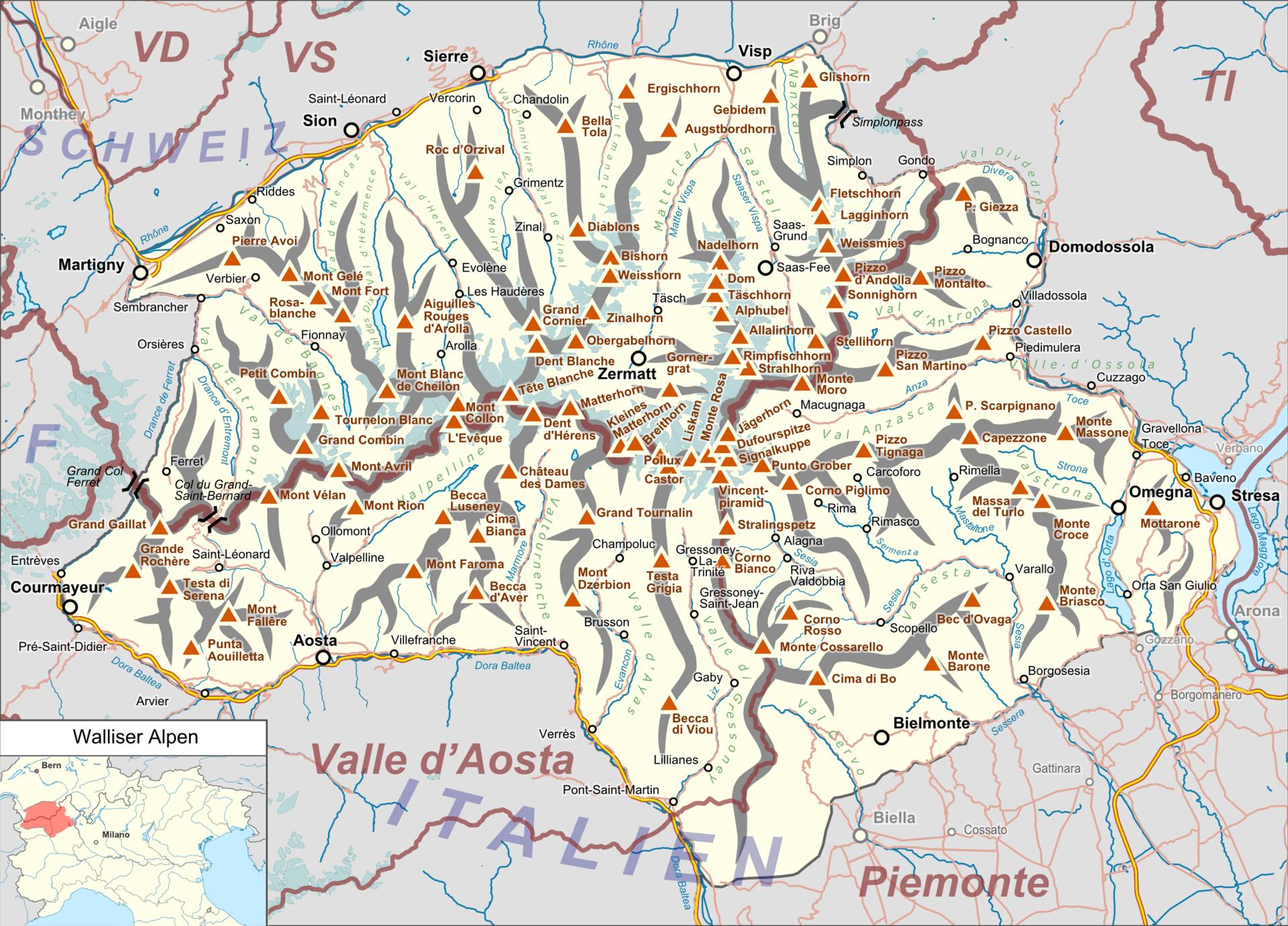 Pässe In Den Alpen