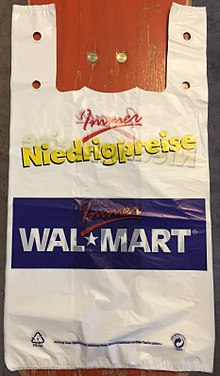 Plastic bags from Walmart Germany