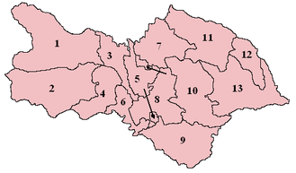 Hang West - Wapentakes of North Yorkshire. Hang West is labelled as number 2.