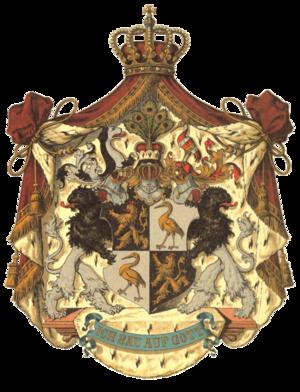 Principality of Reuss-Gera - Image: Wappen Deutsches Reich Fürstentum Reuß jüngere Linie