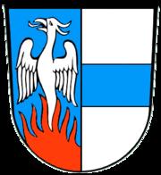 Phönix im Wappen der Gemeinde Bechtsrieth