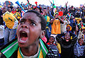 Watching South Africa & Mexico match at World Cup 2010-06-11 in Soweto 12.jpg