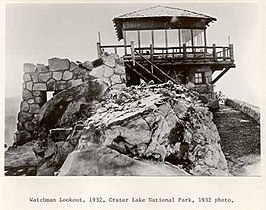 Watchman Lookout at Crater Lake National Park 2C 1932.jpg