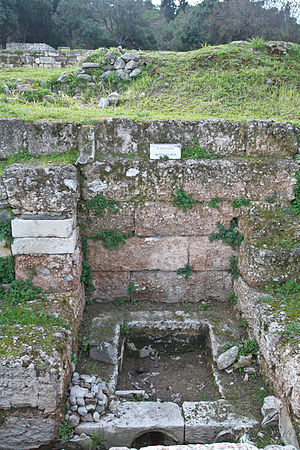 Athenian democracy - Water Clock in the Ancient Agora of Athens.