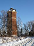 Water tower of the railway station of Kuvshinovo town of the Tver region.JPG