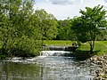 Weir on River Bollin above Vardon Bridge, Wilmslow - geograph.org.uk - 105614.jpg