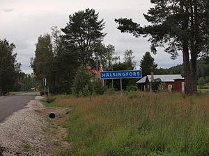 Hälsingfors - Entering Hälsingfors.