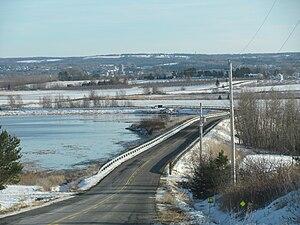 Canard, Nova Scotia - Wellington Dyke and Wellington Dyke Road, looking from Canada towards Starr's Point