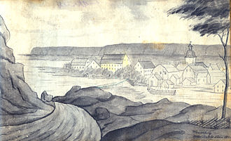 Vänersborg - Vänersborg in 1833, a year before the great fire.