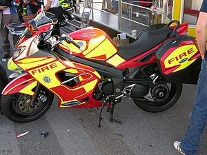 Motorcycles in the United Kingdom fire services - The West Sussex fire bike