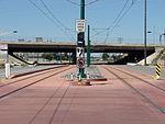 West along tracks from 1940 West North Temple station, Aug 15.jpg